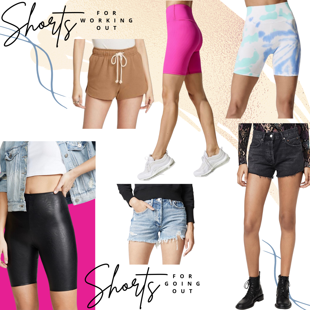 Shorts for working out and going out
