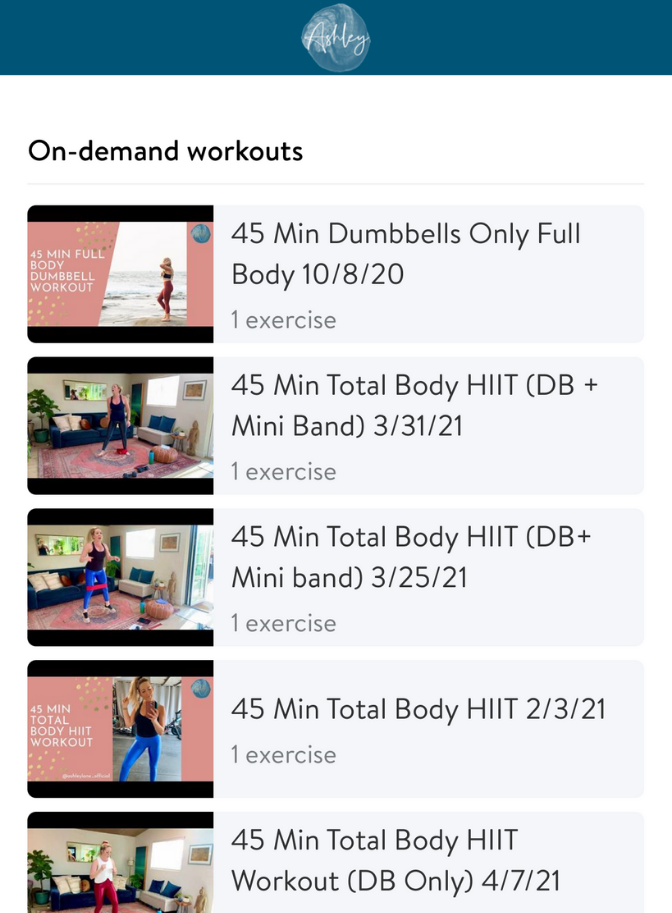 Online workouts, personal training, virtual trainer, personal trainer